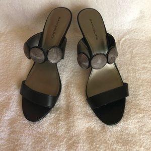 Bandolino summer black sandals size 9,5
